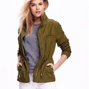 Old Navy | Olive Twill Field Military Jacket